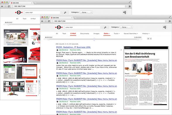 UMA Suche im Google-Style